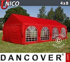 Carpas para fiestas UNICO 4x8m, Rojo