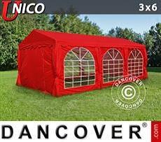 Carpas para fiestas UNICO 3x6m, Rojo