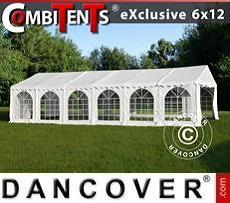 Carpa para fiestas, Exclusive CombiTents® 6x12m 4 en 1, Blanco