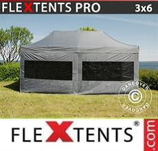 Carpa plegable FleXtents PRO 3x6m Gris, Incl. 6 lados