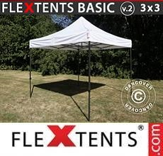 Carpa plegable FleXtents Basic v.2, 3x3m Blanco