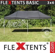 Carpa plegable FleXtents Basic v.2, 3x6m Negro