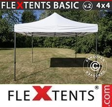 Carpa plegable FleXtents Basic v.2, 4x4m Blanco
