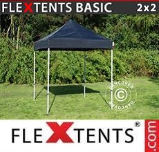 Carpa plegable FleXtents Basic v.2, 2x2m Negro