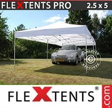 Carpa plegable FleXtents PRO 2,5x5m Blanco