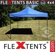 Carpa plegable FleXtents Basic v.2, 4x4m Azul