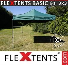 Carpa plegable FleXtents Basic v.2, 3x3m Verde