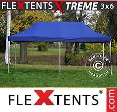 Carpa plegable FleXtents Xtreme 3x6m Azul oscuro