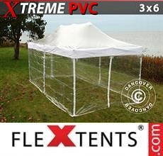 Carpa plegable FleXtents Xtreme 3x6m Transparente, Incl. 6 lados