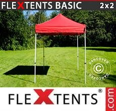 Carpa plegable FleXtents Basic v.2, 2x2m Rojo