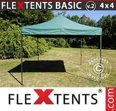 Carpa plegable FleXtents Basic v.2, 4x4m Verde