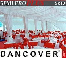 Pack de forro y pata para cortina, blanco, para carpa de 5x10m SEMI PRO Plus