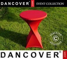 Cubierta flexible para mesa, Ø80x110cm, Rojo