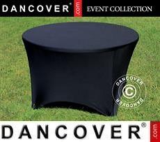 Cubierta flexible para mesa, Ø116x74cm, Negro