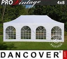 Carpa para fiestas  PRO Vintage Style 4x8m Blanco, incl. 6 lados
