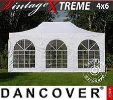 Flextents Carpas Eventos Xtreme Vintage Style 4x6m Blanco, Incl. 8 lados