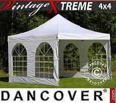 Flextents Carpas Eventos Xtreme Vintage Style 4x4m Blanco, Incl. 4 lados