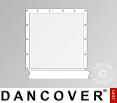 Muro lateral con ventana panorámica para carpa Exclusive, Blanco