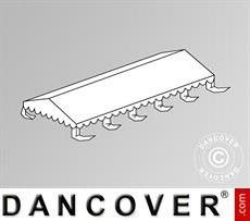 Cubierta para el techo para Carpa para fiesta Original 4x10m PVC, Blanca
