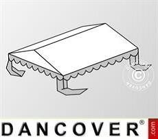 Cubierta para el techo para Carpa para fiesta Plus 3x6m PE, Blanco/Gris
