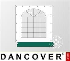 Muro lateral con ventana para carpa Exclusive, Blanco/Verde
