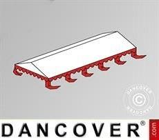 Cubierta para el techo para Carpa para fiesta Exclusive 6x10m PVC, Blanco/Rojo