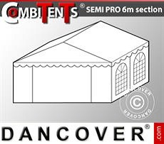 Extensión de tramo final de 4m para CombiTent Semi PRO, 6x4m, PVC, Blanco