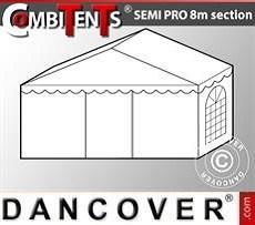 Extensión de tramo final de 2m para CombiTent Semi PRO, 8x2m, PVC, Blanco