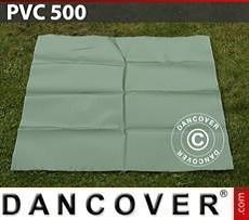PVC para reparación de carpa de almacenamiento, 500g/m², 1x1m, Verde