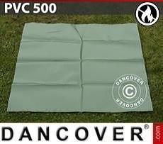 PVC retardante de fuego para reparación de carpa de almacenamiento, 500g/m², 1x1m, Verde