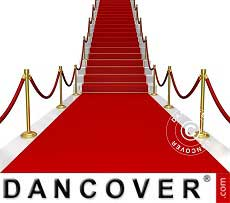 Tapete de alfombra roja, 2x6m, 400g