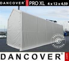 Carpas de Almacén 4x12x3,5x4,59m, PVC, Blanco
