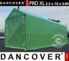 Carpas de Almacén 3,5x10x3,3x3,94m, PVC, Verde