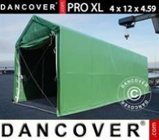 Carpas de Almacén 4x12x3,5x4,59m, PVC, Verde