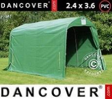 Carpa de almacenamiento PRO 2,4x3,6x2,34m PVC, Verde
