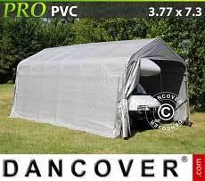 Carpa garaje PRO 3,77x7,3x3,24m PVC, Gris