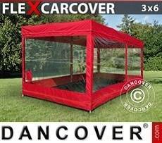 Garaje plegable FleX Carcover, 3x6m, Rojo