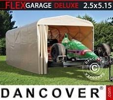 Garaje plegable tipo túnel (para coche), ECO, 2,5x5,15x2,15m, beis