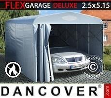 Garaje plegable tipo túnel (para coche), 2,5x5,15x2,15m, gris