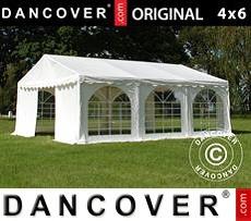 Carpa para fiestas 4x6m PVC, Blanco