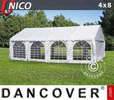 Carpa para fiestas UNICO 4x8m, Blanco