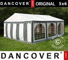 Carpa para fiestas 5x6m PVC, Gris/Blanco