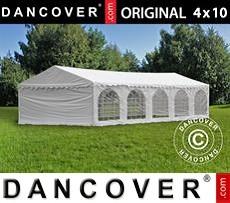 Carpa para fiestas 4x10m PVC, Blanco