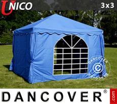 Carpa para fiestas UNICO 3x3m, Azul
