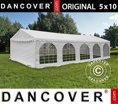 Carpa para fiestas 5x10m PVC, Blanco