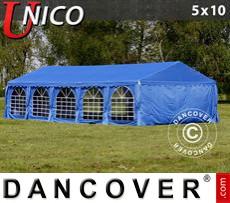Carpa para fiestas UNICO 5x10m, Azul