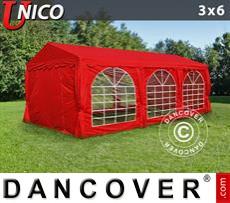 Carpa para fiestas UNICO 3x6m, Rojo