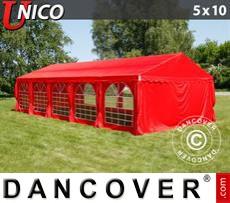 Carpa para fiestas UNICO 5x10m, Rojo