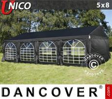 Carpa para fiestas UNICO 5x8m, Negro