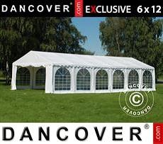 Carpa para fiestas 6x12m PVC, Blanco